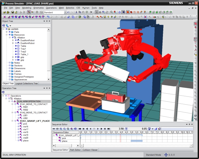Process Simulate Cooperative Robot